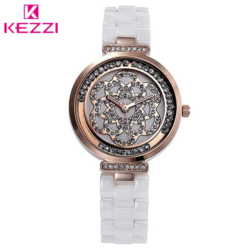 New Fashion Kezzi Women Luxury Wristwatches 30m High Quality Ceramic Watch Ladies Women Dress Quartz Watch Watches Rhinestones(China (Mainland))