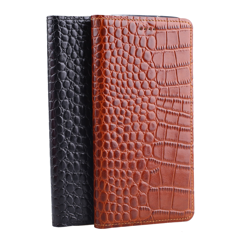Hot! Genuine Leather Crocodile Grain Magnetic Stand Flip Cover For Samsung Galaxy S5 i9600 Luxury Mobile Phone Case(China (Mainland))