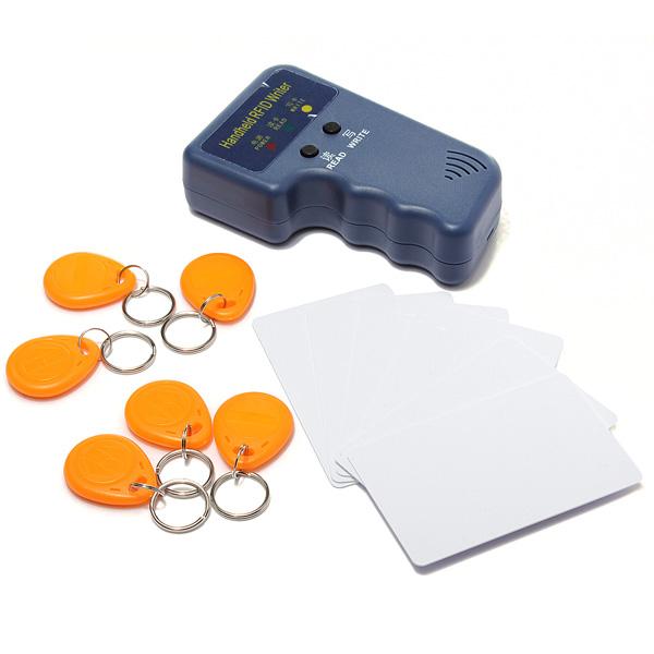 RFID 125KHz EM4100 EM410X ID Card Copier Duplicator + 6 Writable Tags + 6 Writable Cards Wholesale(China (Mainland))