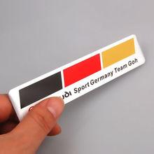 Aluminium Car Auto German Germany Flag Badge emblem Decal Stickers Fit For Audi BMW(China (Mainland))