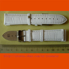 1 x 22 mm GENUINE COW LEATHER watch band white 03