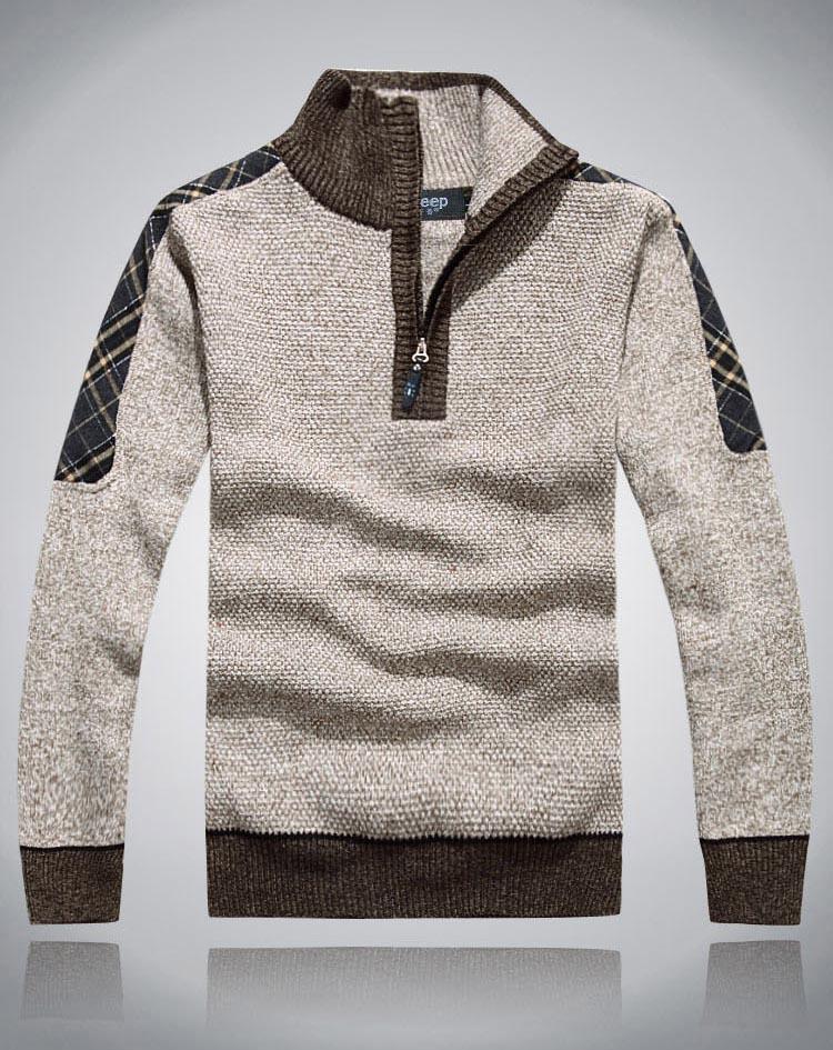 2017 do sexo masculino homens jumpers marca pulôver dos homens camisola de outono & inverno roupas de lã 50% espessamento casuais camisola de malha, 5 cor