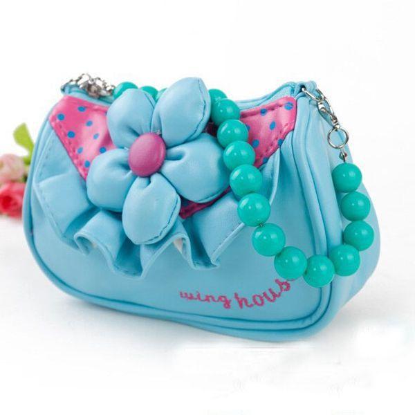 Cartoon kids bag Children messenger bag for girls Lovely Flower kids single shoulder bag fashion mini coin purse BG209(China (Mainland))