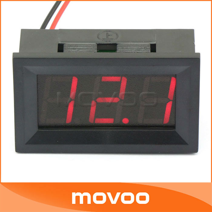 12 Volt Panel Meter : V quot digital voltage panel volt meter dc