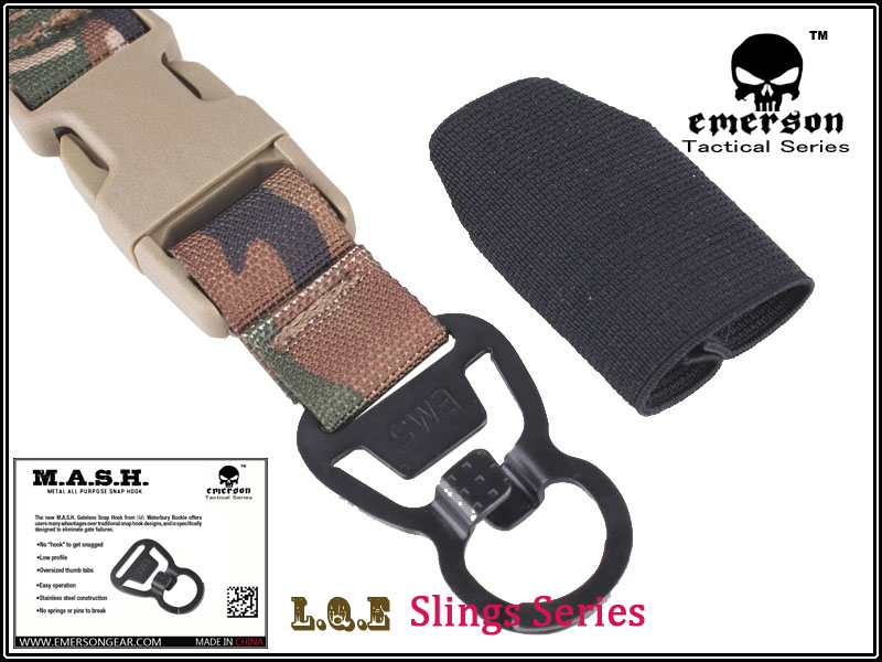 Army Military Combat Shooting Gun Sling EMERSON L Q E One Point Slings Series Gun Sling