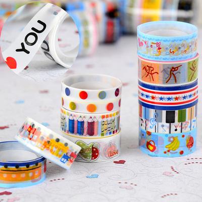 Promotion Korea Stationery Cute Cartoon Tape Transparent Tape Color Tape Korea School Supplies Stationery Cute Kawaii<br><br>Aliexpress