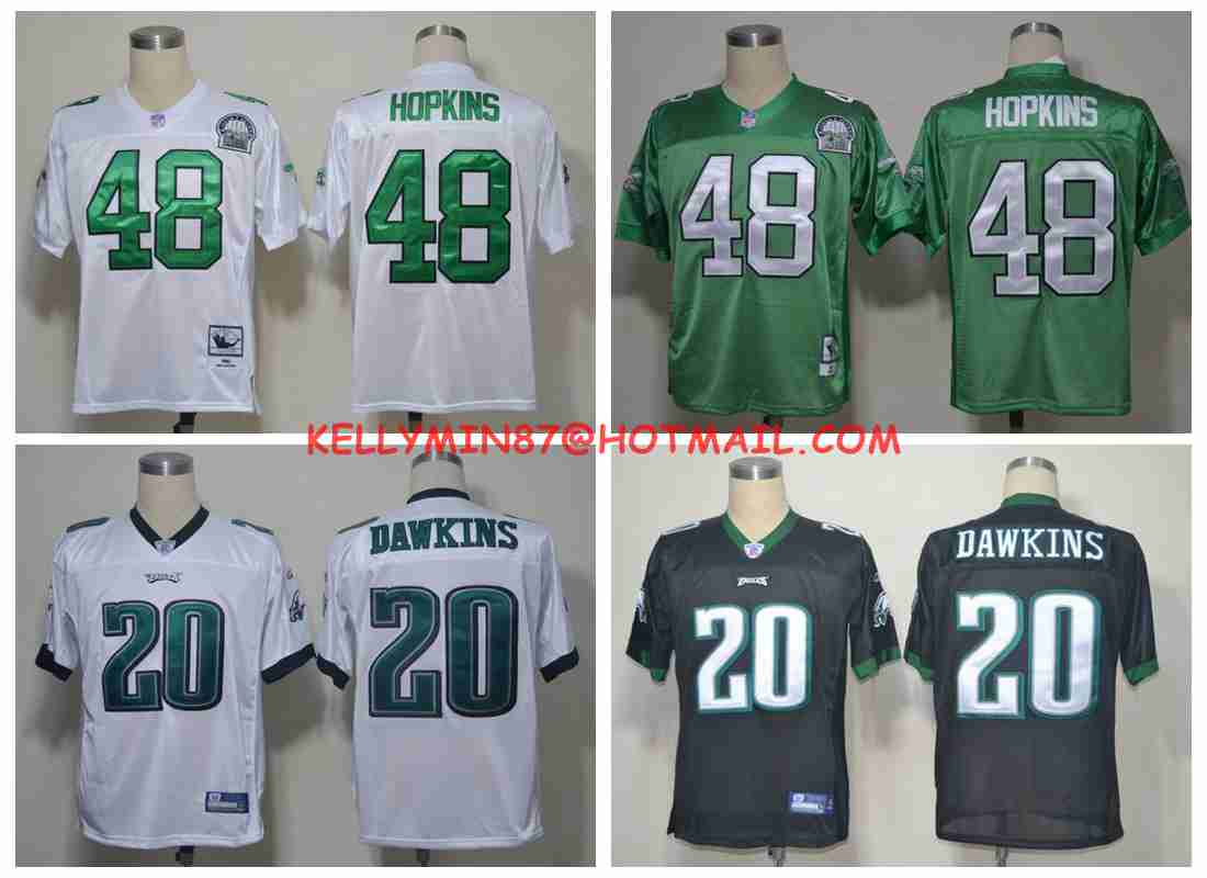 100% Stitiched,Philadelphia Eagles,Wes Hopkins Brian Dawkins Throwback for men,camouflage(China (Mainland))
