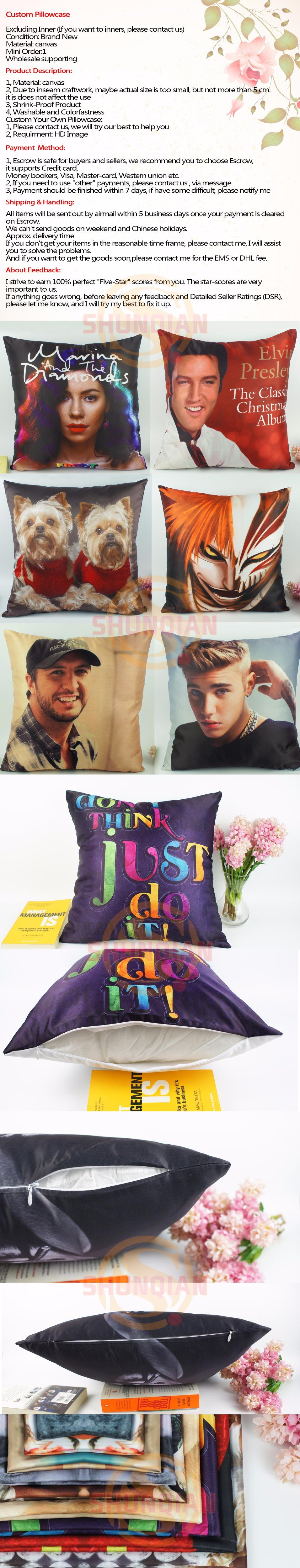 Hot Sale Daft Punk Pillowcase Wedding Decorative Pillow Case Customize Gift For Pillow Cover A311&56