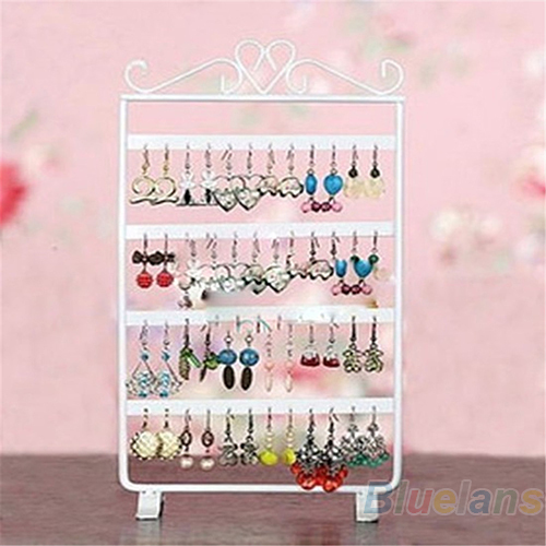 48 Holes Display Rack Metal Stand Holder Closet Jewelry Earrings Organizers Showcase Packaging & 05DL - Cool Trendy Cheap store