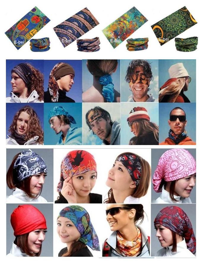 Mixed Batch Multifunctional Headwear Neck Bandana Multi Scarf Tube Mask Cap Large Number of Style Wholesale/Retail Free Shipping(China (Mainland))