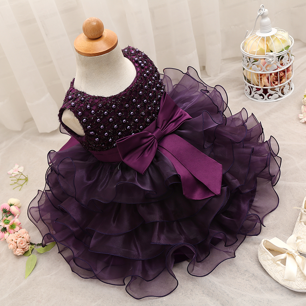2018 Trendy Baby Girl Baptism Clothes Tulle Lush Dress For Girl ...