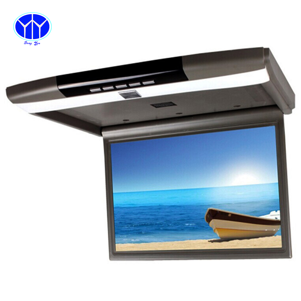 15.6 Inch TFT LCD Car TV monitor Roof mount ceiling flip down for peugeot Display screen LED HD HDMI USB SD auto monitor(China (Mainland))