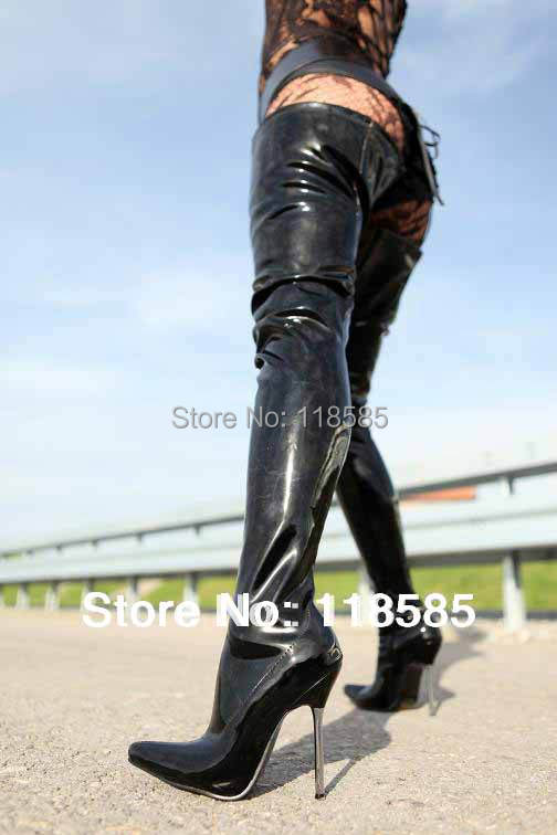 Mens Thigh High Leather Boots - Boot Hto
