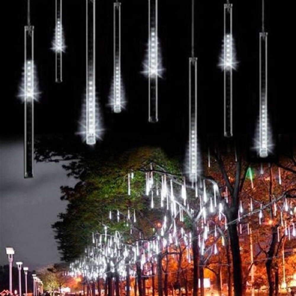 Energy Saving 30cm 8 Tube Meteor Shower Rain Tube Snowfall LED Light For Christmas Valentine Holiday Tree Garden Decoration<br><br>Aliexpress