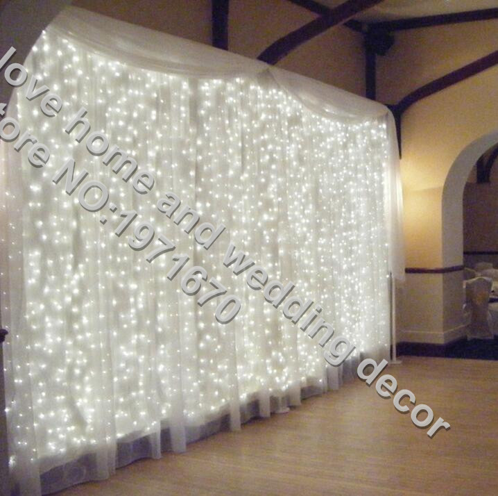 300leds fairy string icicle led curtain light 300 bulbs Outdoor Home Xmas Christmas Wedding garden party decoration 220V 4.5M*3M(China (Mainland))
