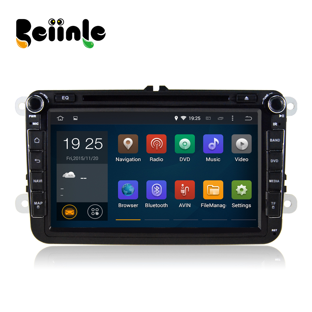 Beiinle Car 2 Din Android Quad Core 1024*600 16G DVD GPS Radio Navigation  Player for  VW Passat B6  B7 CC Caddy Tiguan  Turan <br>