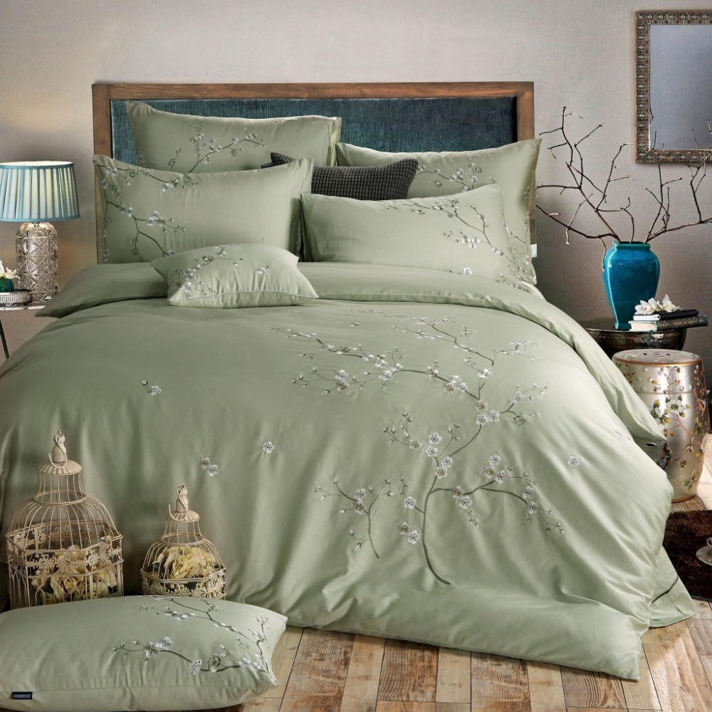 Compare prices on king bedspread green online shopping for Housse de couette king size