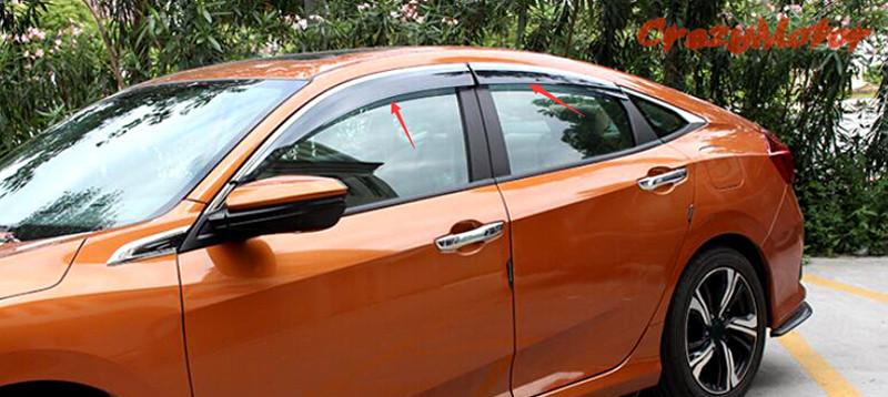 10th Generation Civic Exclusive Pakistan Launch - For Honda font b Civic b font Sedan 4dr 10th Gen 2016 2017 font b Window