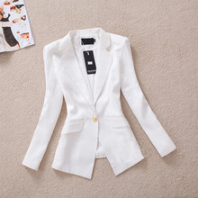 2016 New Arrival Single Button Notched Broadcloth Full Regular Solid Button Blazers