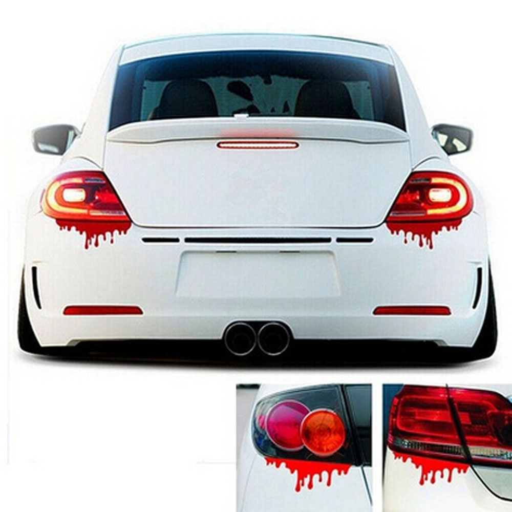 Car body sticker design for sale - Tiptop New Hot Sale Red Blood Car Stickers Reflective Car Decals Light Bumper Body Sticker Decal