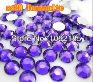 SS20 5mm 10000pcs/pack Flat back Acrylic Rhinestones Tanzanite Color Nail Art - Rhinestone houses store