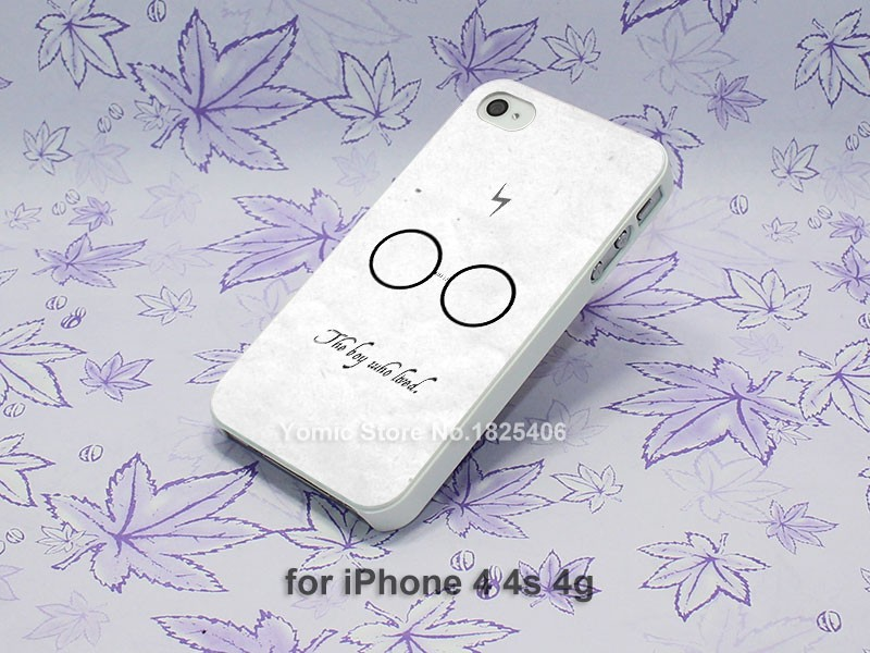 Harry Potter Dark Quote Hard White Skin Case Cover for iPhone 4 4s 4g 5 5s 5c 6 6s 6 Plus
