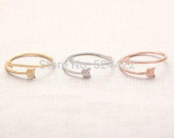 2015 золото / / роуз женщин стрелка обертывание кольцо регулируется просто костяшки ...