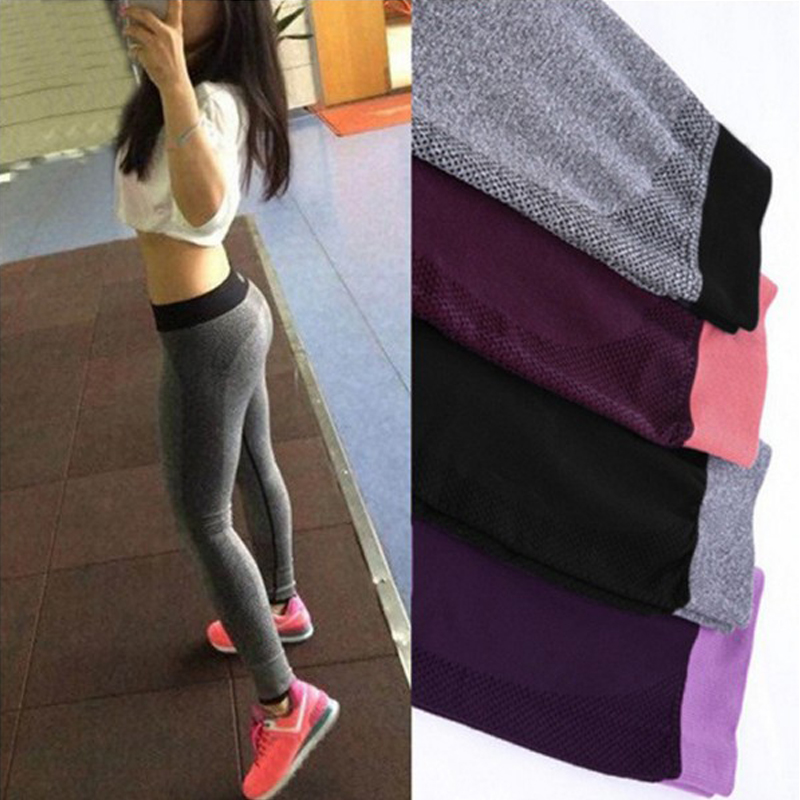 Hot sale women Sexy High Waist Stretched Gym Clothes Spandex Quick-drying Running Womens Sports Leggings Fitness Active Pants()