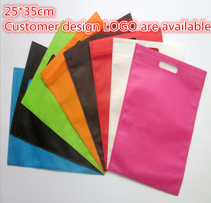 25*35cm 10 pcs/lot nylon tote present bag gift bags for cookies(China (Mainland))