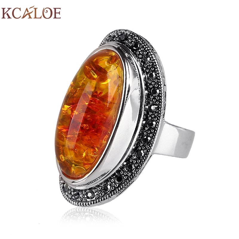 Vintage jewelry amber ring big natural red green agate for Amber stone wedding ring
