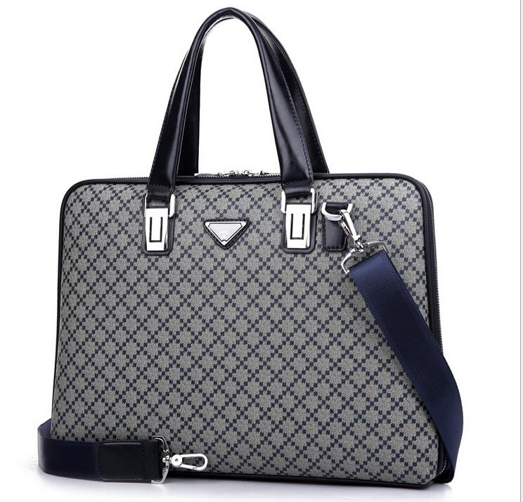 mens briefcase PVC  high quality famous brand plaid  men briefcases handbags  man shoulder bags laptop bags <br><br>Aliexpress