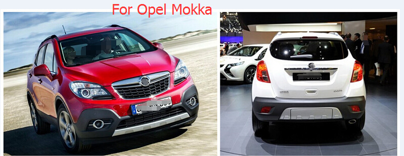 For Vauxhall / OPEL Mokka / BUICK ENCORE 2013 -2015 Stainless Steel Window Lift Switch Button Cover Trim 4pcs / set