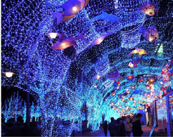 Wedding Party 210 LED Net Lights 3mx2m LED Giant fairy light Christmas decoration for xmas ...