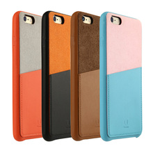 Baseus Fashion Hit color Leather Phone Case For Apple iPhone 6S 6 Encounter Series Mobile Cover