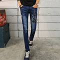 2016 New Fashion Men Jeans Han edition Men s Casual Pants Famous Brand Biker Jeans Blue