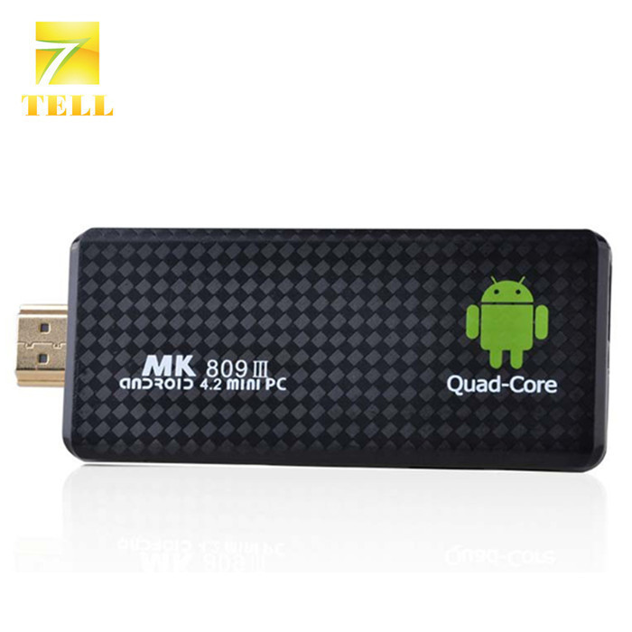 MK809 III TV Dongle RK3188T Quad Core Android TV BOX Stick 2GB RAM 8GB ROM Bluetooth Android 4.4 XBMC TV BOX(China (Mainland))