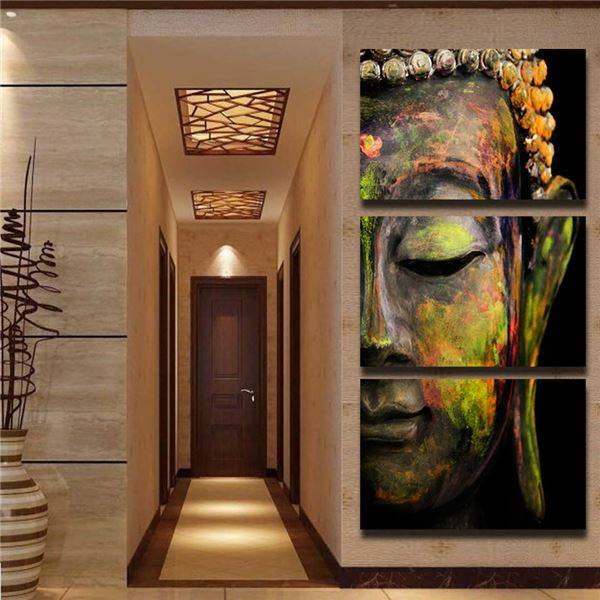 Free shipping buddha oil effect print painting wall art paintings picture paiting canvas paints home decor Giveaways wall sticke(China (Mainland))