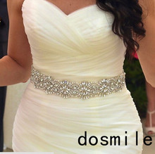 2016 Hot Sale Bridal Belts Wedding Belt Beaded Crystals and Rhinestones on Satin Ribbon Wedding Sashes(China (Mainland))