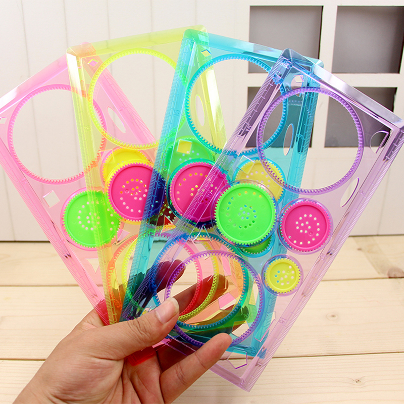 Spirograph versatile drawing tool geometry ruler student stationery office supplies office stationery exquisite gift 1PCS(China (Mainland))