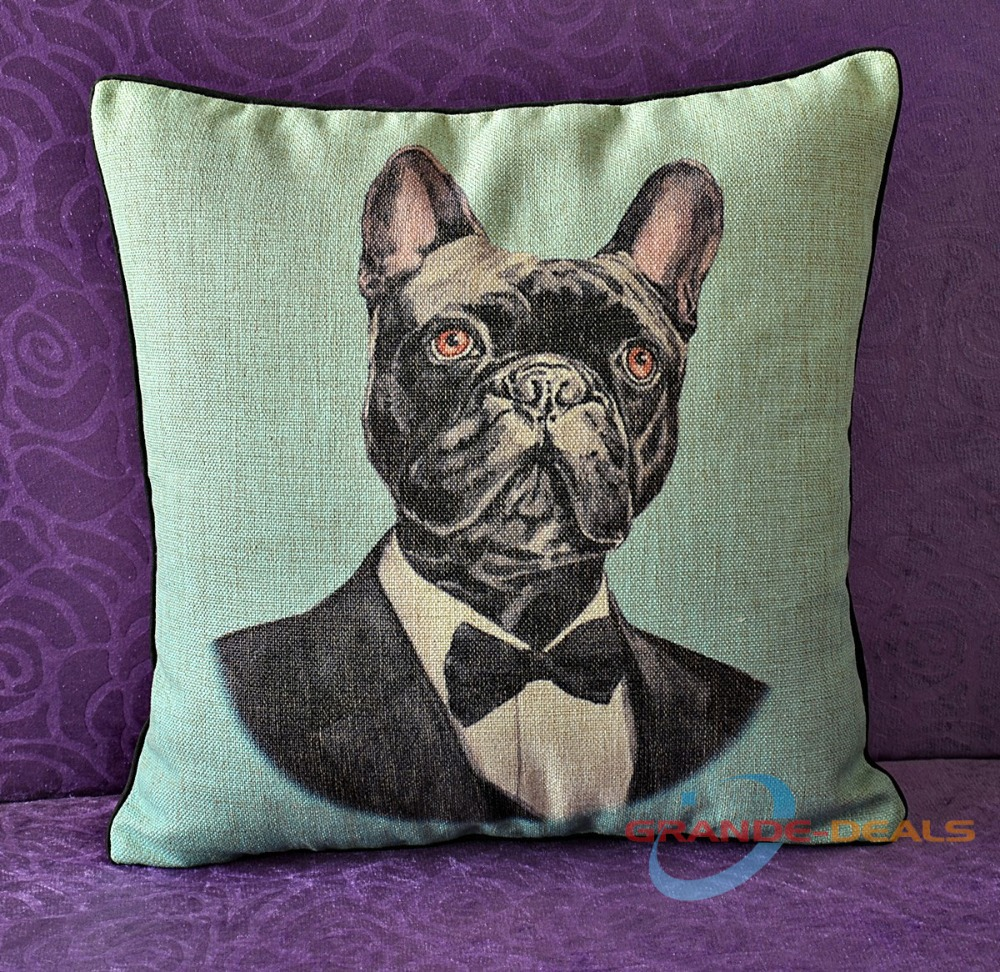 18 x inch cotton linen Duke Dog cushion cover car pillow case - Grande-deals online shopping store