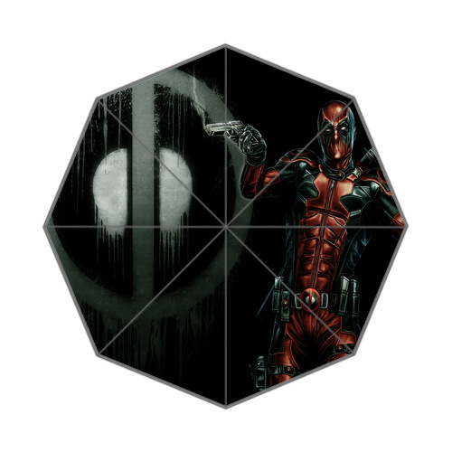 Humorous Comics Role Deadpool Background Rain Umbrella!Free Shipping(China (Mainland))