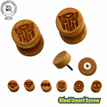 BOG 1 Pair Cheater Faux Fake Ear Tunnel Plugs Piercing Jewelry Carved With Hero Logo looks