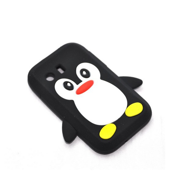 For S5360 Samsung Galaxy Y Young Penguin Soft Silicone Case Back Skin Cover GT Black Free Shipping(China (Mainland))