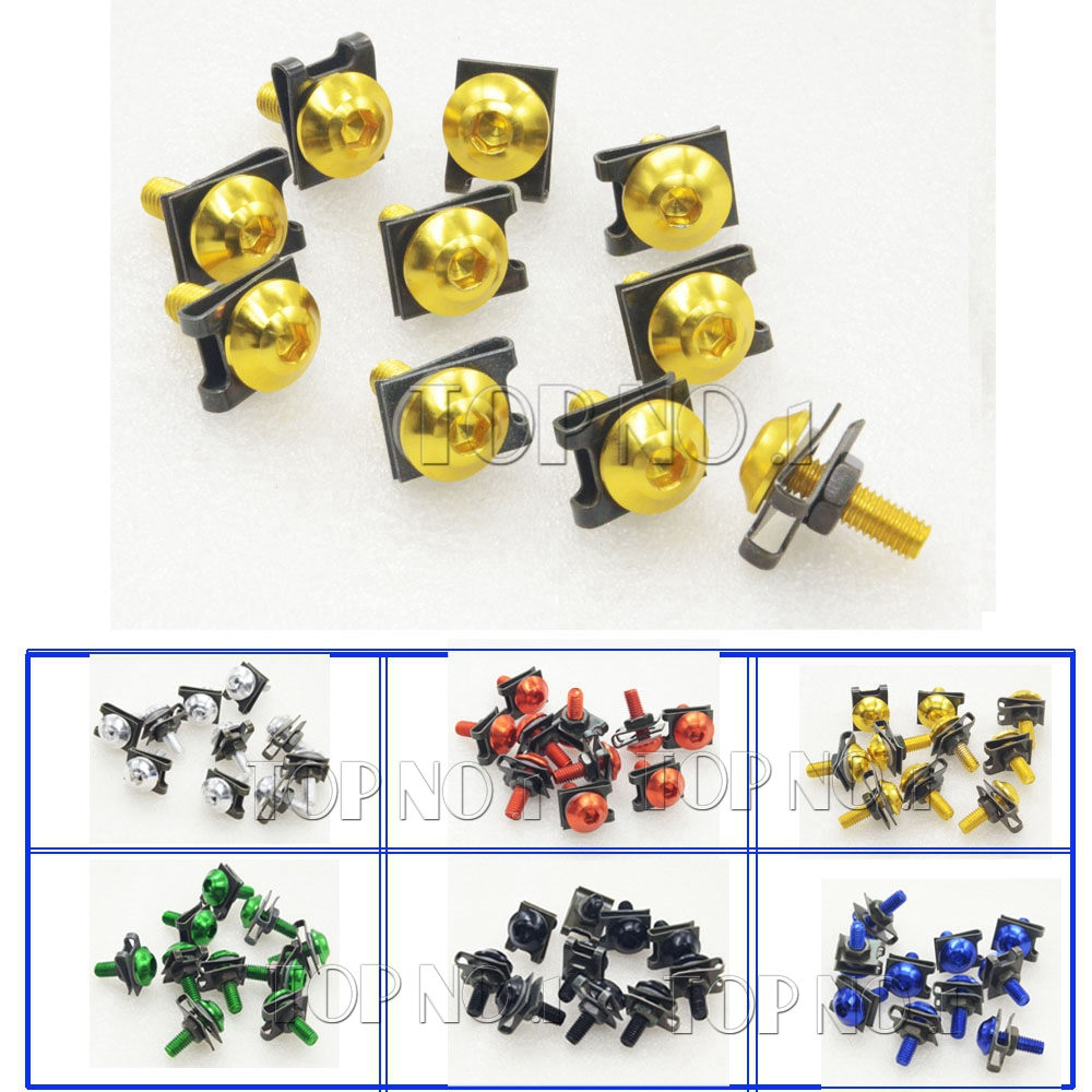 new style 6mm M6 cnc motorcycle parts fairing bolts screws For YAMAHA YZF R1 R6 2005 2006 2007 2008 2009 2010 2011 2012(China (Mainland))