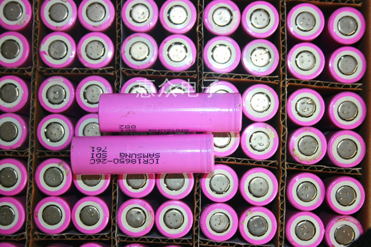 Imported disassemble 18650 2600mah lithium battery ICR18650 26A(China (Mainland))