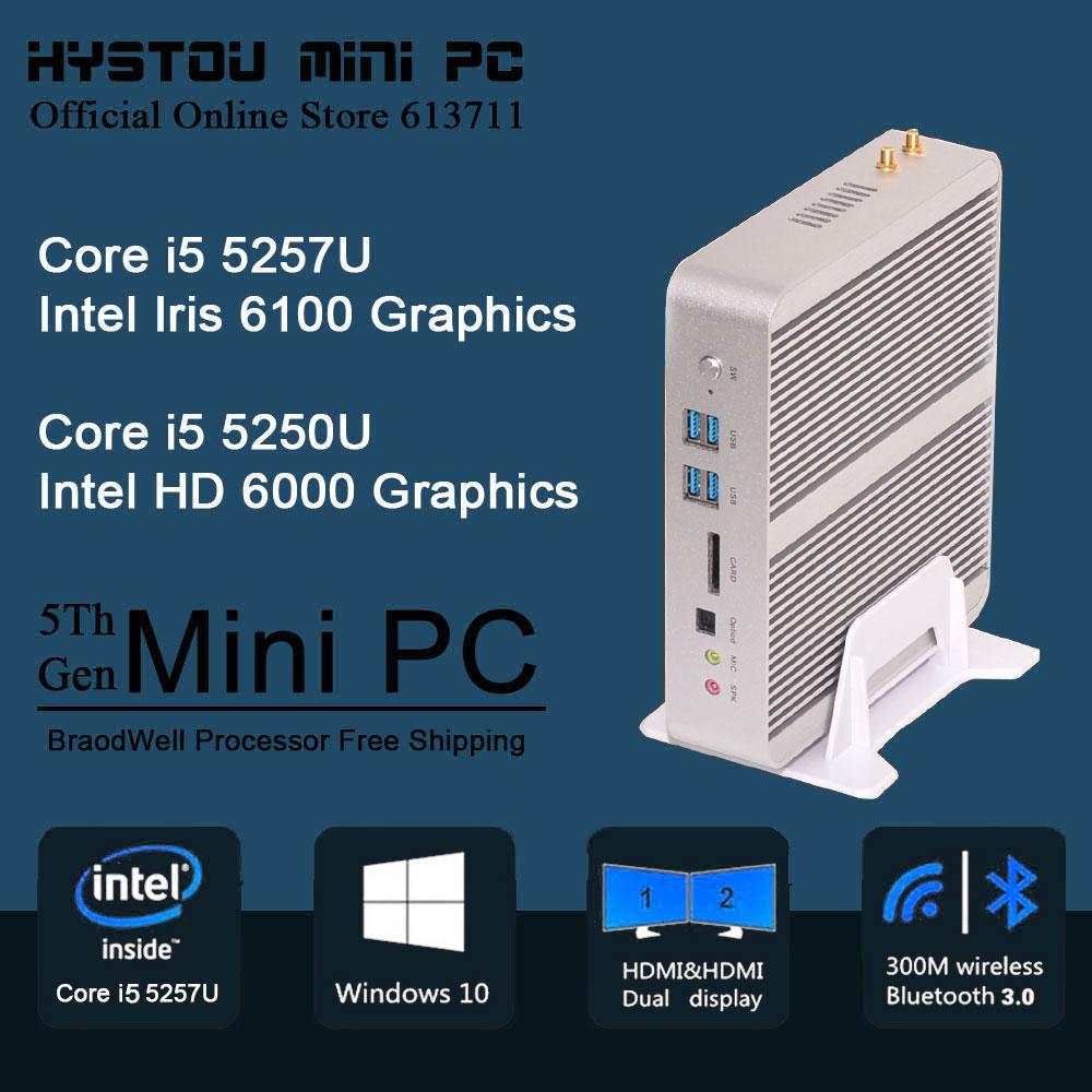 5Th Gen i5 5257U CPU Barebone Mini PC i5 Mini PC Broadwell Nettop HTPC 4K&Blu-ray Intel i5 Micro PC Small Size MiniComputers(China (Mainland))
