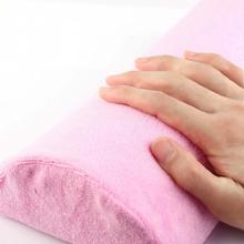 1pc Hot New Pink Half Hand Cushion Rest Pillow Nail Art Design Manicure Care Salon Soft Column(China (Mainland))