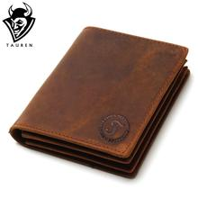 Buy 2017 Vintage Crazy Horse Handmade Leather Men Wallets Multi-Functional Cowhide Coin Purse Genuine Leather Wallet Men for $12.21 in AliExpress store
