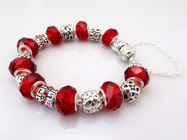 Free Shipping wholesale 925 Sterling Silver jewelry charms bracelet silver bracelet.clear crystal beads bracelet  Pp08