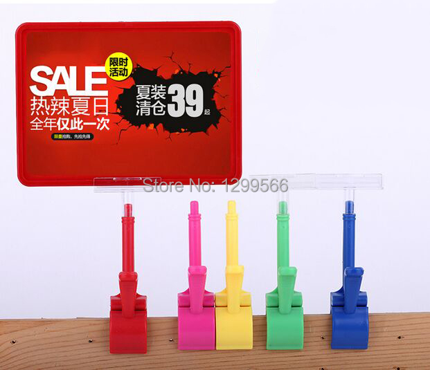 Best selling thumb clip pop advertising poster display stand holder rack A5 frame price tag sign Promotions card 20 sets(China (Mainland))